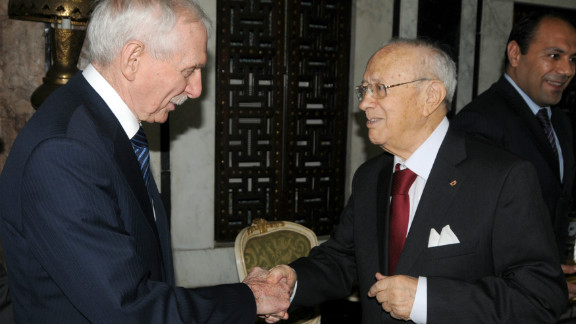 Tunisian President Beji Caid Essebsi is 91. His presidency follows a term as Prime Minister, a role he took following the revolution in the country which sparked the Arab Uprising across the Middle East.