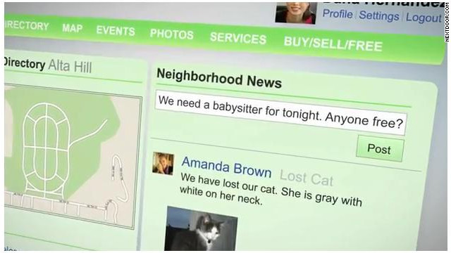 Sites like Nextdoor, a social network for neighbors, are addressing a desire to make online relationships more local.