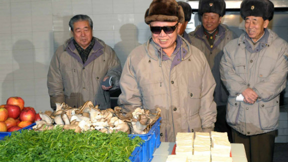 Mundane images of Kim Jong Il looking at things have been collected on a cult-favorite blog.