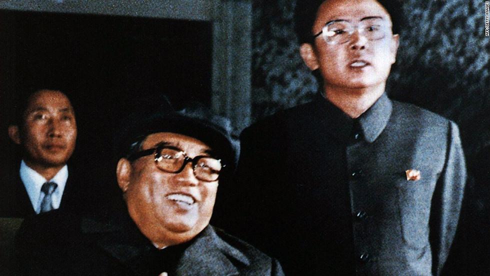 North koreas man of mystery cnn former north korean leader kim il sung and his son and chosen successor kim jong thecheapjerseys Choice Image