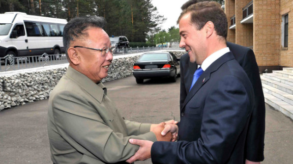 Cozy relations between North Korea and Russia aren't exactly new. After all, the Kim regime has long had ties to Russia. This photo  from August 29, 2011 by North Korea's official Korean Central News Agency shows Russia's now Prime Minister Dmitry Medvedev shaking hands with the late North Korean leader Kim Jong Il.