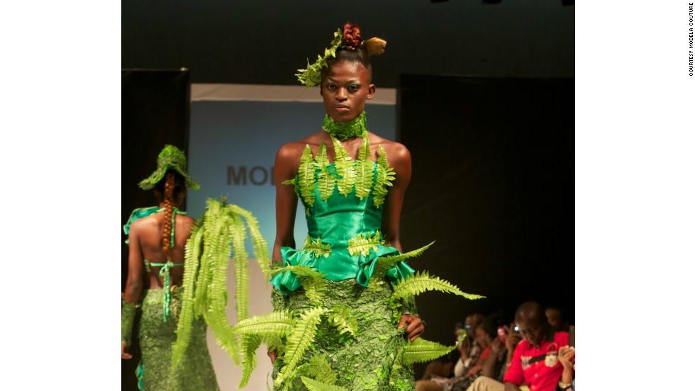 Green Is This Season S Color At Nigeria Fashion Week Cnn