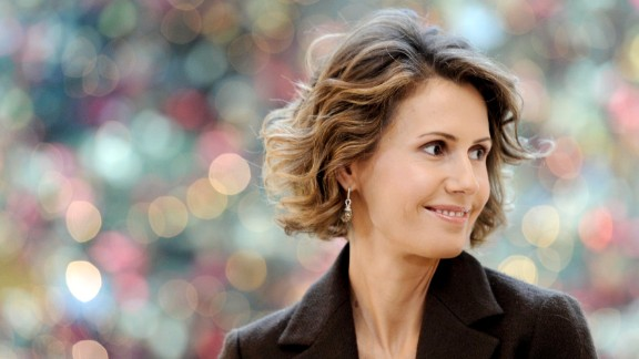 Asma al-Assad at the Bristol hotel in Paris on December 11, 2010.