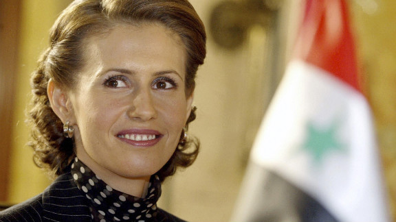 Syrian first lady Asma al-Assad attends an Arab women and war conference in March 2004 in Beirut, Lebanon.