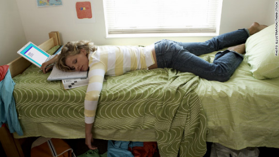 College students catch up on sleep during breaks from school. But how much sleep is too much?