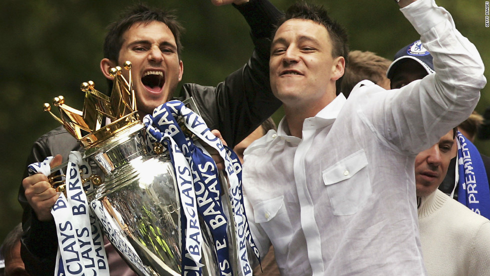 In his first full season as captain, Terry led Chelsea to a first English top-flight title in 50 years.