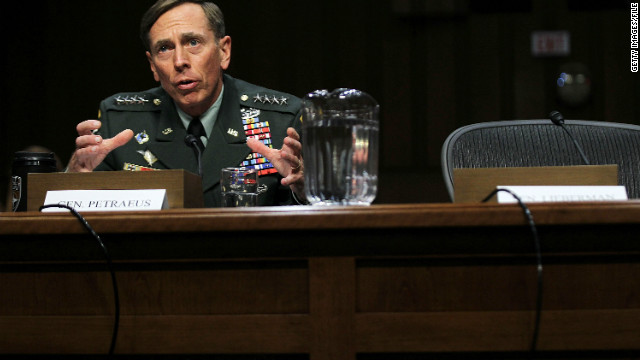 Gen. Petraeus appeared before a Senate committee on Capitol Hill on June 23, 2011.
