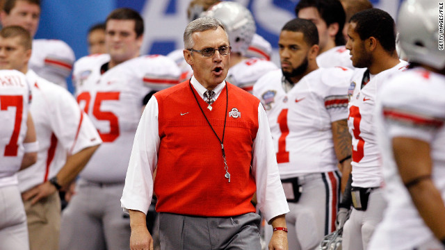 Jim Tressel resigned as Ohio State's coach earlier this year.