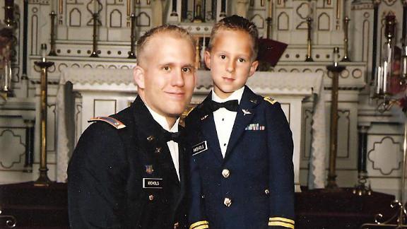 Braydon Nichols with his father, Army Chief Warrant Officer Bryan Nichols.