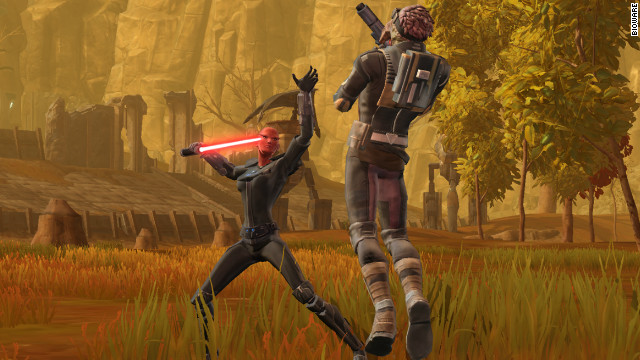 """Star Wars: The Old Republic"" lets players roam around various planets and level-up their characters."