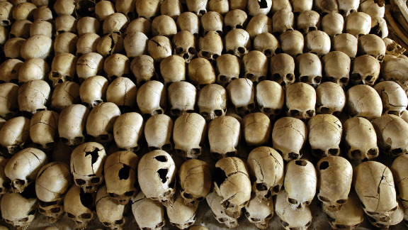 some 800,000 men, women, and children -- mostly Tutsis but also moderate Hutus -- died in the Rwanda genocide in 1994.