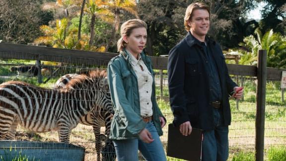 """Widower Matt Damon meets zookeeper Scarlett Johansson in director Cameron Crowe's """"We Bought a Zoo."""""""