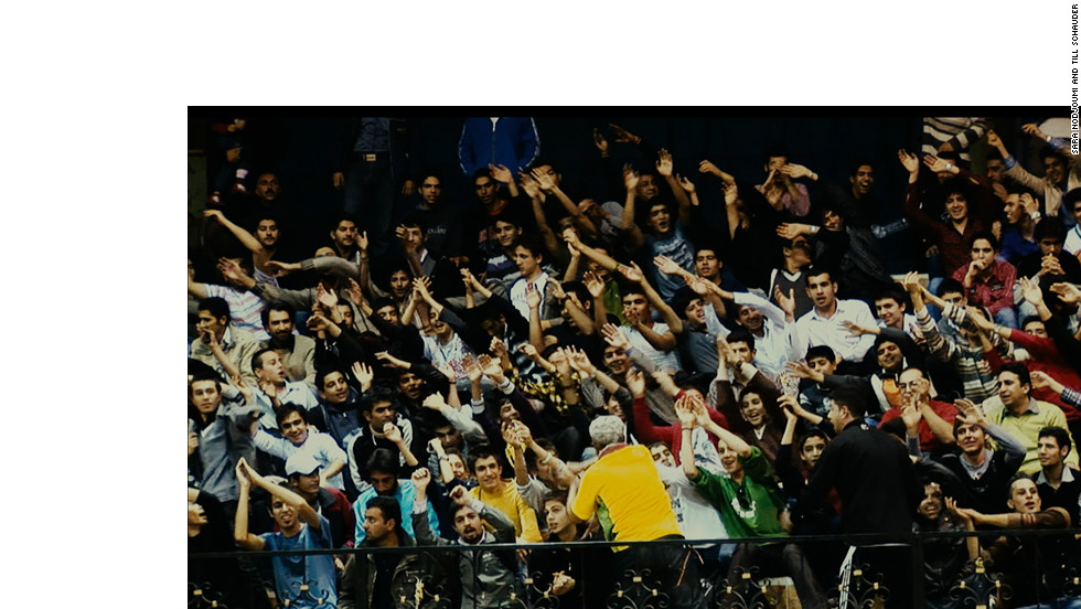 The fans of Shiraz show their enthusiasm and support for the Iranian league's only non-government-sponsored team.