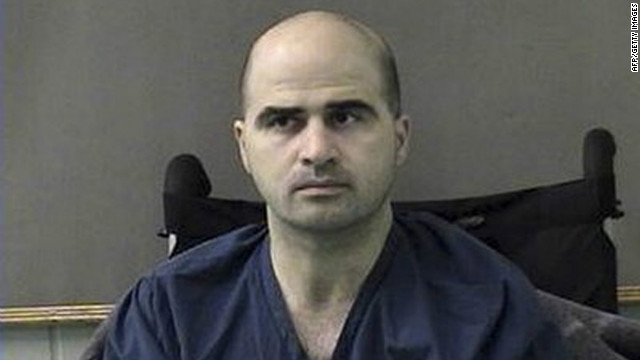 Maj. Nidal Hasan is accused of killing 13 and wounding 32 others in November 2009.