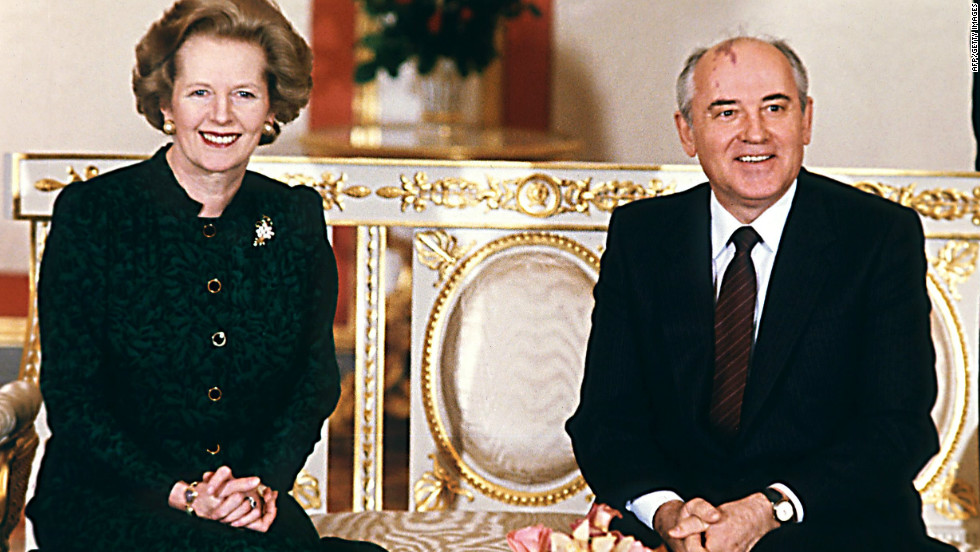 March 1987: Gorbachev is courted by foreign leaders, including Britain's Margaret Thatcher, keen for him to build on democratic advances that have boosted his popularity.