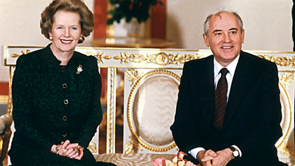 March 1987: Gorbachev is courted by foreign leaders, including Britain