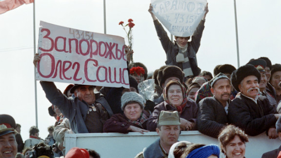 February 1989: Soviet military involvement ends in Afghanistan a month before Russians elect a new parliament in the first free elections since the Soviet Union