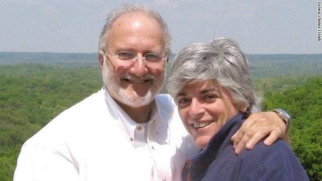 Alan Gross, in an undated photo with his wife, Judy, was subcontracting on a USAID project when he was arrested.