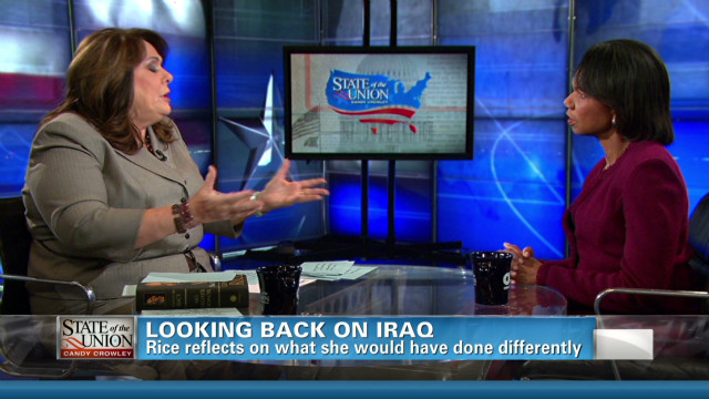 Rice looking back on Iraq