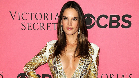 Alessandra Ambrósio flaunted a fit and trim physique at last month