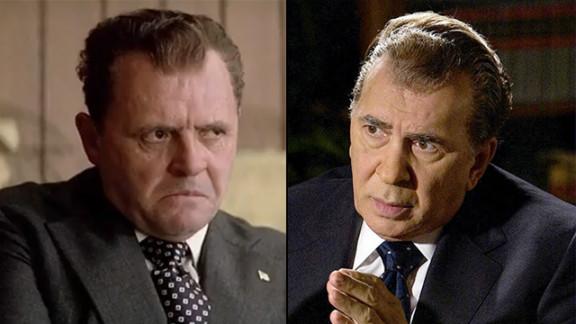 Anthony Hopkins portrayed President Richard M. Nixon in Oliver Stone