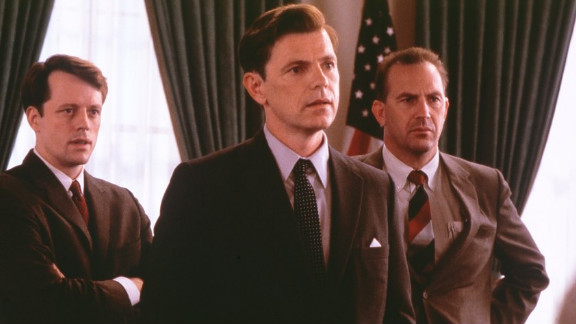 Bruce Greenwood portrayed President John F. Kennedy, with Kevin Costner playing Kennedy