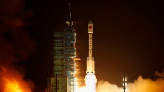 A Long March 2F rocket carrying China