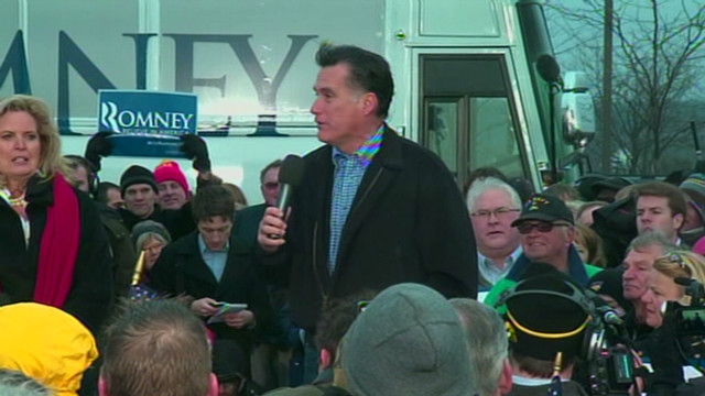 Romney in final push to win Iowa