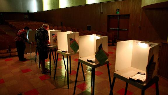 Voters in Los Angeles last year.