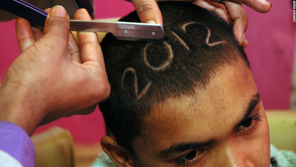 In the Pakistani city of Rawalpindi, one young man chose to celebrate the New Year with an unusual haircut.