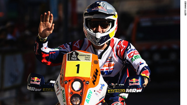 Defending champion Marc Coma claimed his 17th Dakar Rally stage victory on Monday.