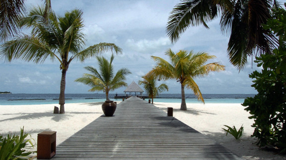 A view of Coco Palm spa resort in the Maldives. The government has banned massage parlors and spas across the island nation