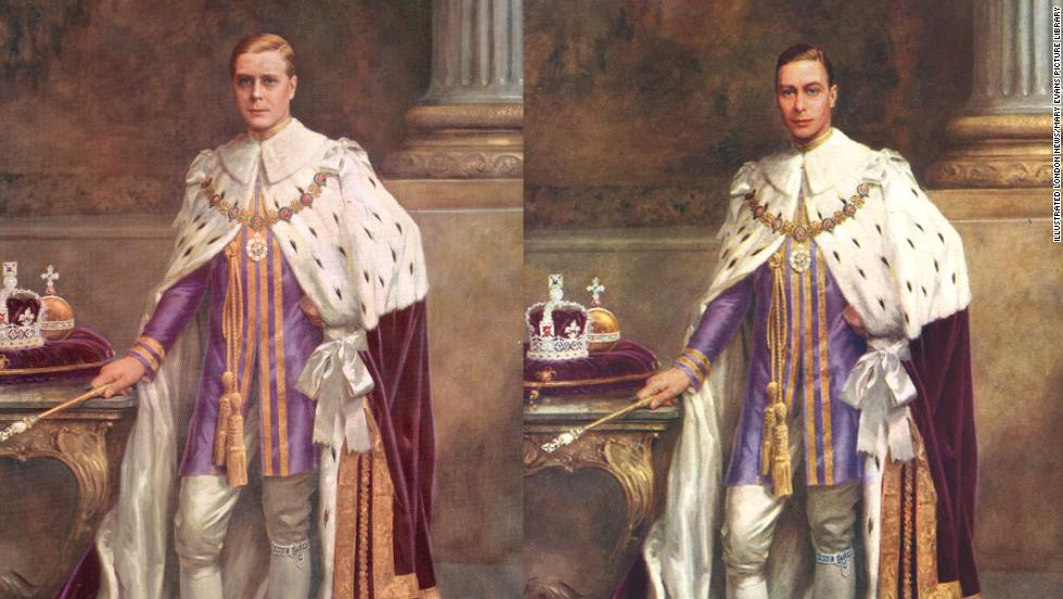 "A newly discovered picture of King Edward VIII, who abdicated in 1936, shows the portrait was reused -- after careful ""editing"" by artist Albert H Collings -- to show his successor, King George VI."