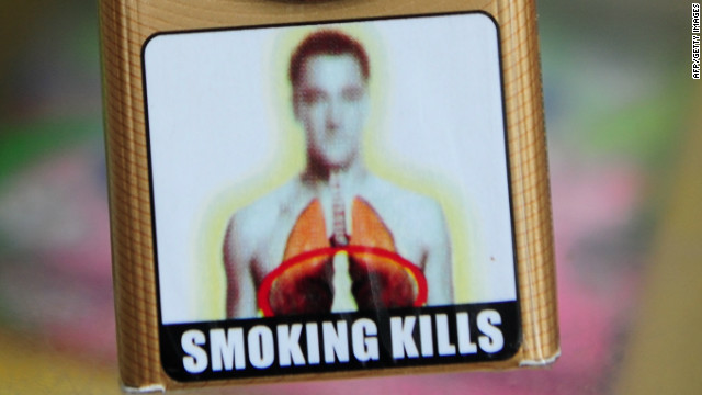 A packet of cigarettes adorned with an image said to resemble that of Chelsea and England footballer John Terry.