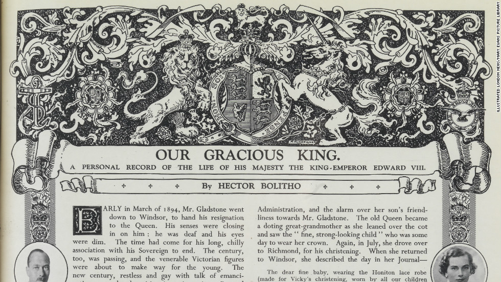 "The portrait of Edward VIII was not the only item from the coronation issue to be ""recycled"" -- a lengthy tribute to the monarch was used in a special ""abdication and accession"" edition of the magazine."
