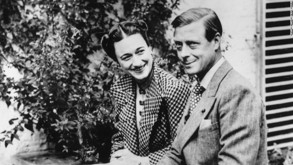 Edward VIII was named the Duke of Windsor when he abdicated in order to continue his relationship with  American divorcee Wallis Simpson. The couple married in France the following year.