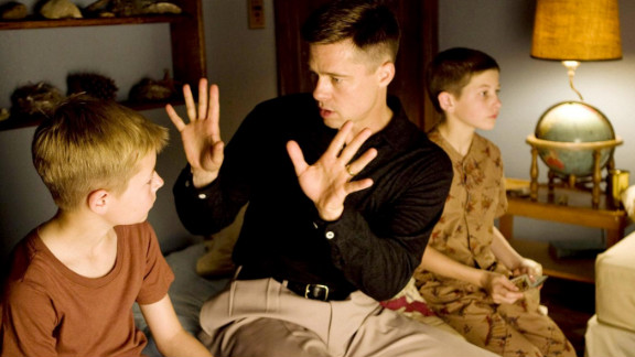 """Pitt portrays a strict father, Mr. O'Brien, in the 2011 Terrence Malick film """"The Tree of Life."""""""