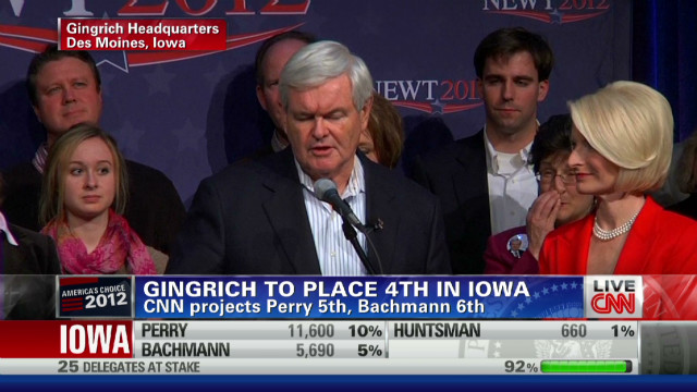 Gingrich thanks Iowa despite negativity
