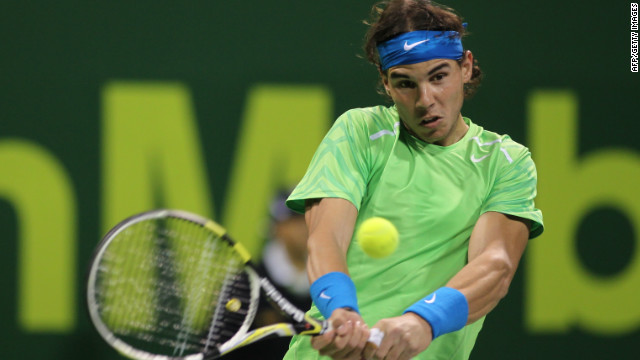 Rafael Nadal lost just four games as he reached the quarterfinals of the Qatar Open.