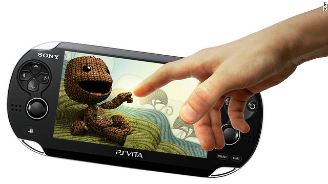 Sony's PlayStation Vita handheld gaming device.