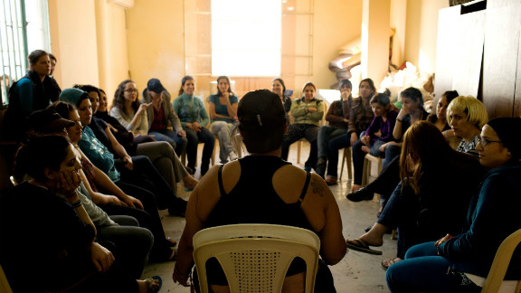 Women inmates of Baabda Prison, Beirut, Lebanon, talk about their life experiences in a drama therapy session.