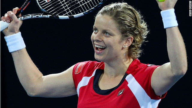 Belgium's Kim Clijsters will be looking looking to defend her Australian Open crown in Melbourne later this month.