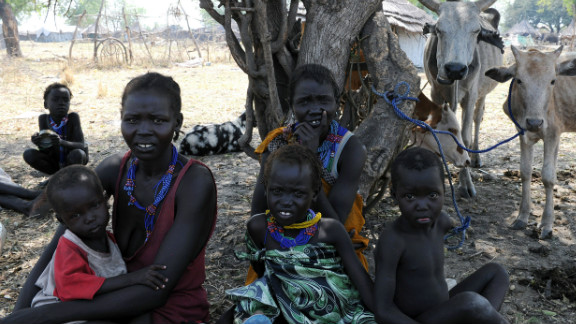 In a U.N. photo, displaced persons rest in Pibor, Jonglei state after fleeing a wave of bloody ethnic violence.
