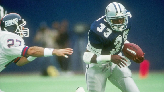 Tony Dorsett played 11 seasons and gained 12,739 yards.