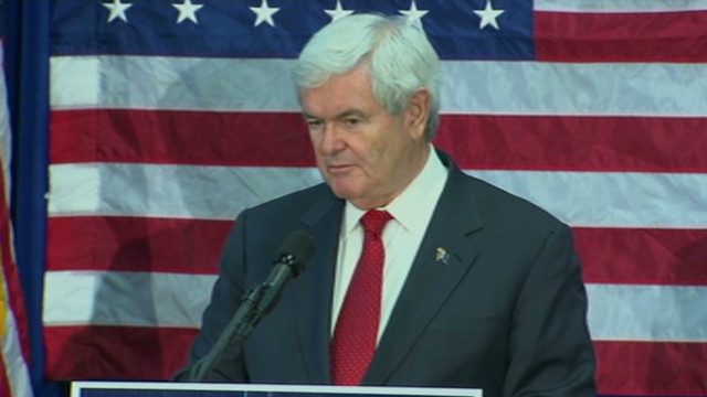 Gingrich discusses drug policy