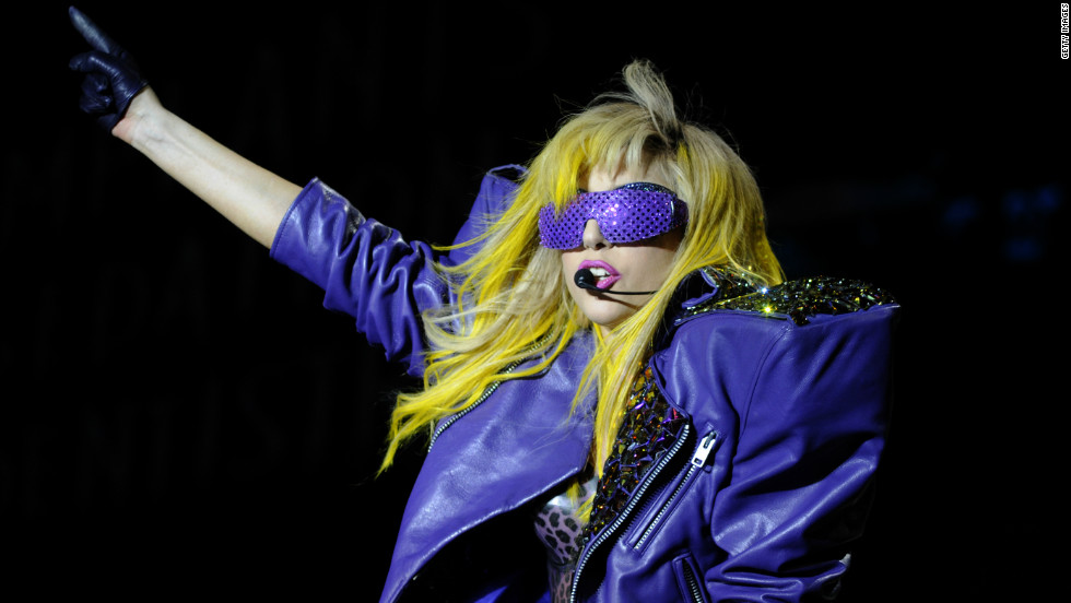 Lady Gaga performs as part of Lollapalooza 2010 at Grant Park in Chicago.
