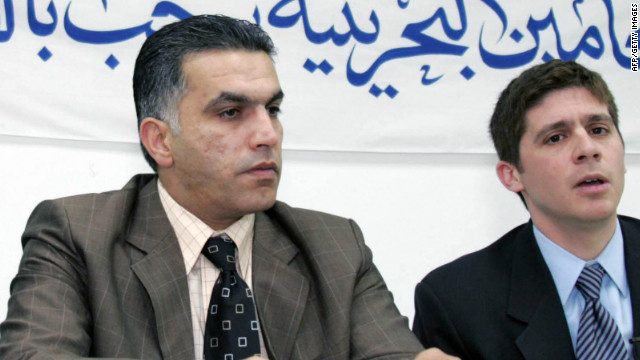 Nabeel Rajab, left, shown in 2006, has often complained about the use of violence and torture against pro-democracy protesters.