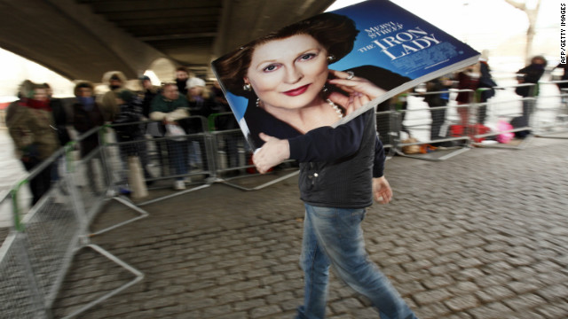 "Biopic ""The Iron Lady"" stars Meryl Streep as Margaret Thatcher, the first woman to be elected Prime Minister of Britain."