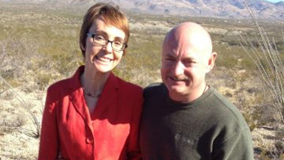 Giffords and Kelly last week in Tucson. The couple met in 2003 and married three years later.