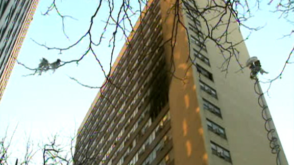 A fire broke out Sunday in Chicago on the 12th floor of a high-rise building.
